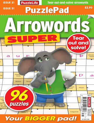 PuzzleLife PuzzlePad Arrowords Super Issue 031