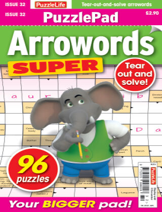PuzzleLife PuzzlePad Arrowords Super Issue 032