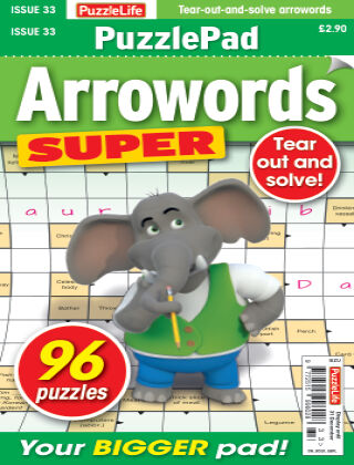 PuzzleLife PuzzlePad Arrowords Super Issue 033