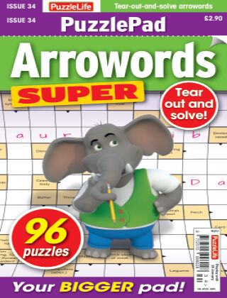 PuzzleLife PuzzlePad Arrowords Super Issue 034