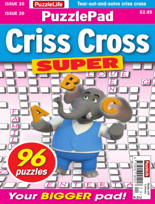 PuzzleLife PuzzlePad Criss Cross Super Issue 020