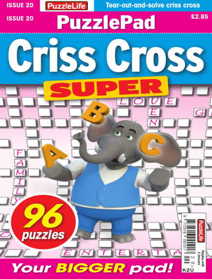 PuzzleLife PuzzlePad Criss Cross Super December 05, 2019 00:00