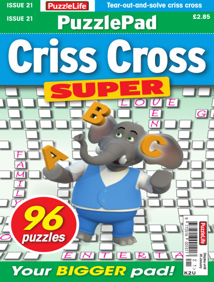 PuzzleLife PuzzlePad Criss Cross Super January 02, 2020 00:00