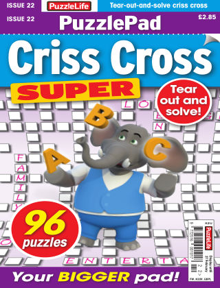 PuzzleLife PuzzlePad Criss Cross Super Issue 022