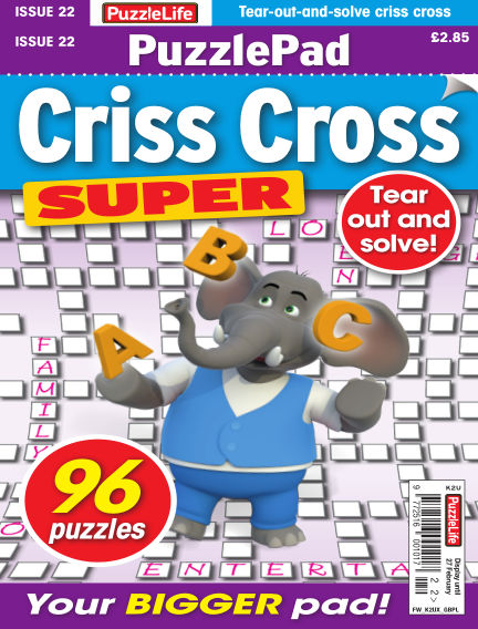 PuzzleLife PuzzlePad Criss Cross Super January 30, 2020 00:00