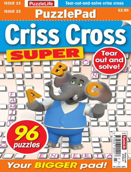 PuzzleLife PuzzlePad Criss Cross Super February 27, 2020 00:00