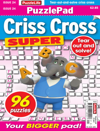 PuzzleLife PuzzlePad Criss Cross Super Issue 024