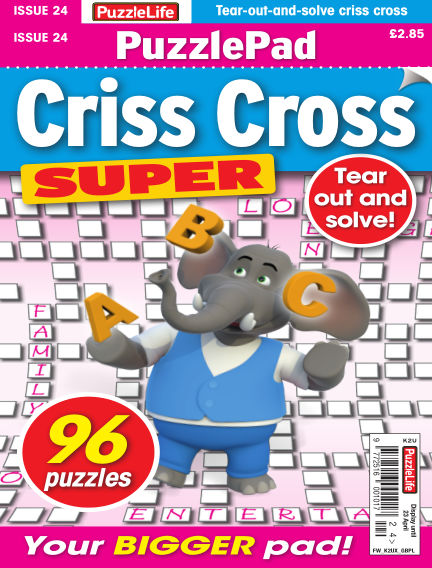PuzzleLife PuzzlePad Criss Cross Super March 26, 2020 00:00