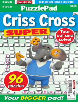 PuzzleLife PuzzlePad Criss Cross Super Issue 025