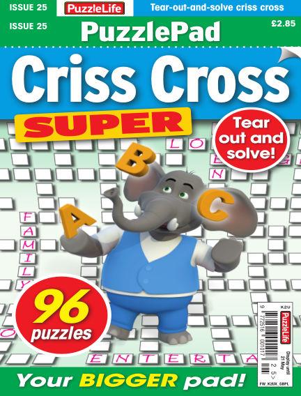 PuzzleLife PuzzlePad Criss Cross Super April 23, 2020 00:00