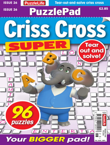PuzzleLife PuzzlePad Criss Cross Super May 21, 2020 00:00
