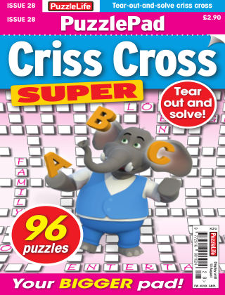 PuzzleLife PuzzlePad Criss Cross Super Issue 028