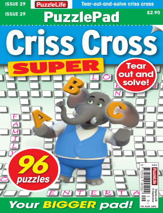 PuzzleLife PuzzlePad Criss Cross Super Issue 029