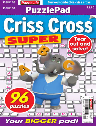 PuzzleLife PuzzlePad Criss Cross Super Issue 030
