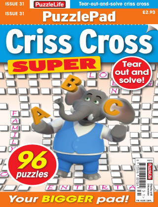 PuzzleLife PuzzlePad Criss Cross Super Issue 031