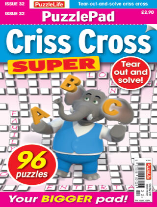 PuzzleLife PuzzlePad Criss Cross Super Issue 032