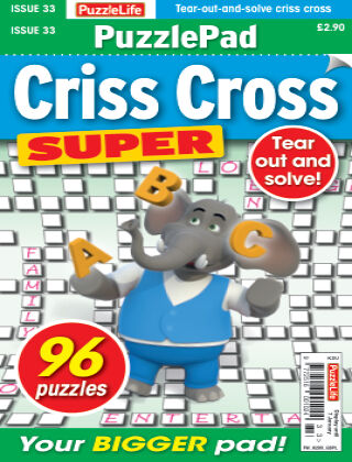 PuzzleLife PuzzlePad Criss Cross Super Issue 033