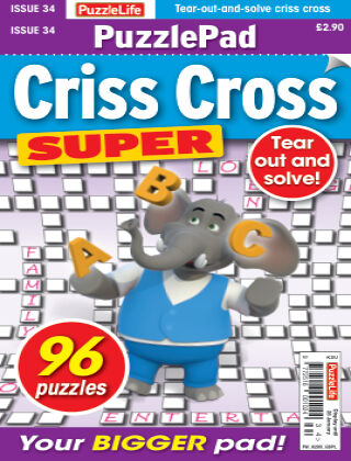 PuzzleLife PuzzlePad Criss Cross Super Issue 034