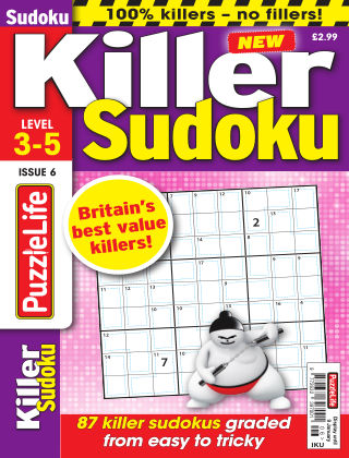 PuzzleLife Killer Sudoku Issue 006