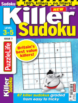 PuzzleLife Killer Sudoku Issue 007