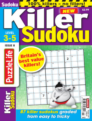 PuzzleLife Killer Sudoku Issue 008