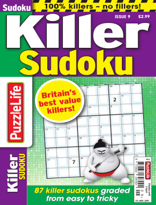 PuzzleLife Killer Sudoku Issue 009