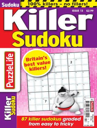 PuzzleLife Killer Sudoku Issue 013