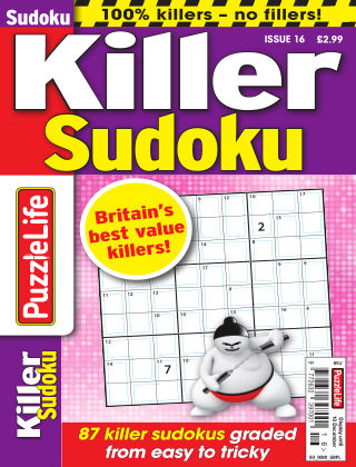 PuzzleLife Killer Sudoku Issue 016