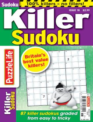 PuzzleLife Killer Sudoku Issue 018