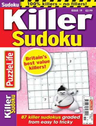 PuzzleLife Killer Sudoku Issue 19