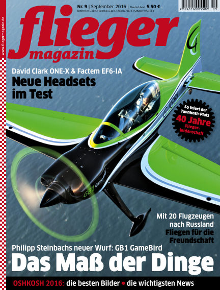 fliegermagazin August 24, 2016 00:00