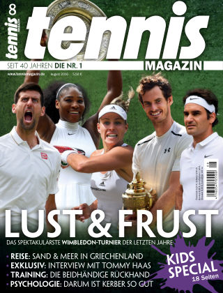 tennis MAGAZIN NR. 08 2016