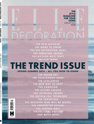 ELLE Decoration - UK February 2016