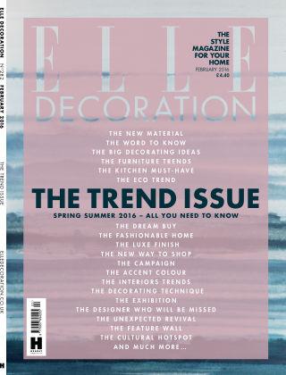 ELLE Decoration - UK February 2016
