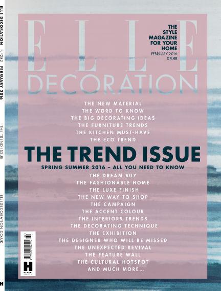 ELLE Decoration - UK January 01, 2016 00:00