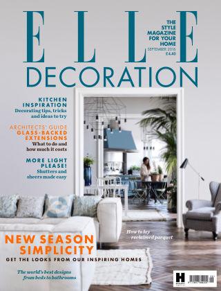 ELLE Decoration - UK September 2016