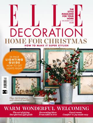 ELLE Decoration - UK December 2016