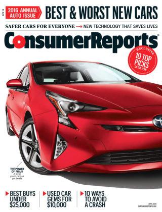 Consumer Reports Apr 2016