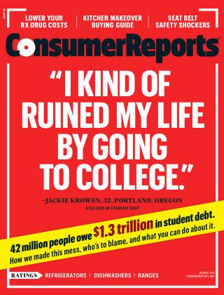 Consumer Reports Aug 2016