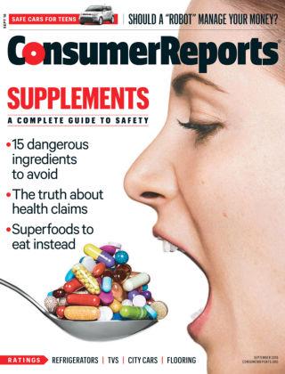 Consumer Reports Sep 2016