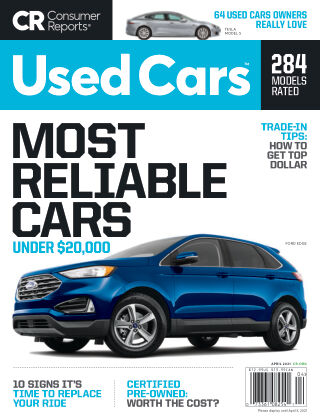 Consumer Reports Cars & Technology Guides Used Cars April 2021