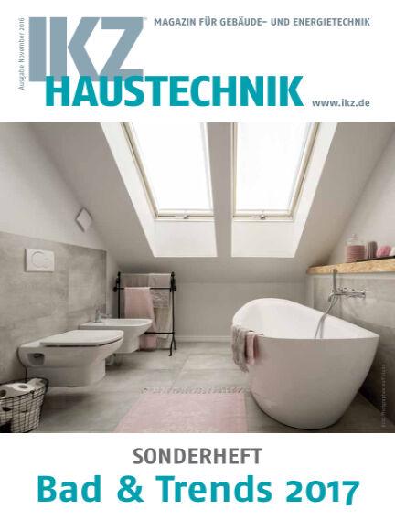 IKZ Haustechnik Bad & Trends November 25, 2016 00:00