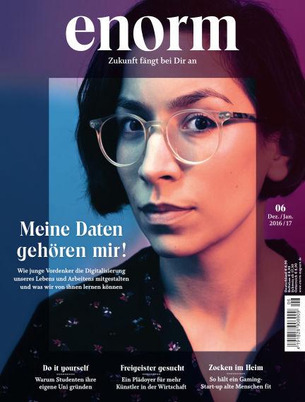 enorm Magazin December 16, 2016 00:00