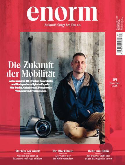 enorm Magazin October 21, 2016 00:00