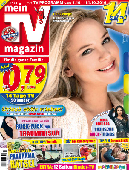 mein TV-magazin September 30, 2016 00:00