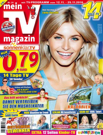 mein TV-magazin November 11, 2016 00:00