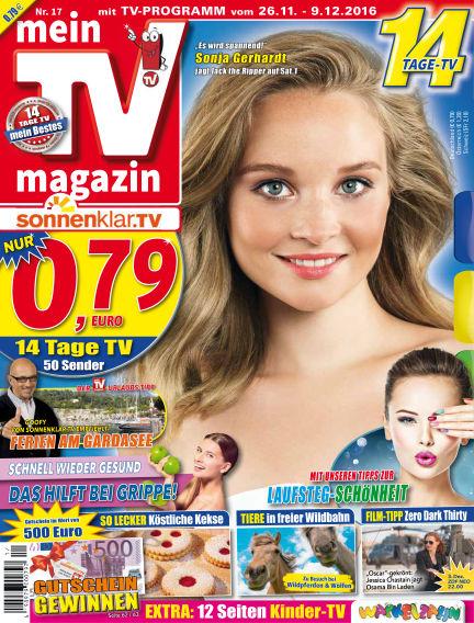 mein TV-magazin November 25, 2016 00:00