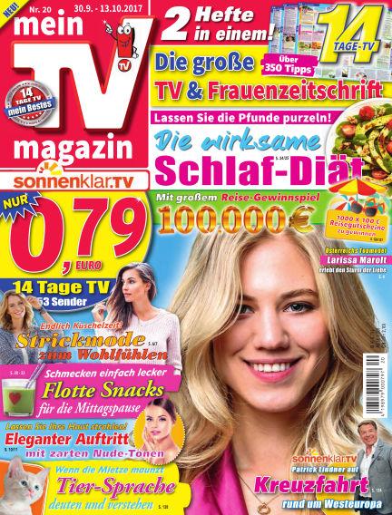 mein TV-magazin September 29, 2017 00:00