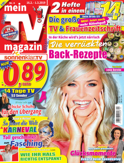 mein TV-magazin February 15, 2019 00:00