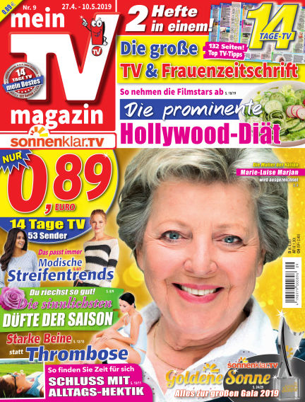 mein TV-magazin April 26, 2019 00:00